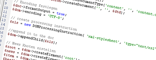 XML Manipulation mit PHP
